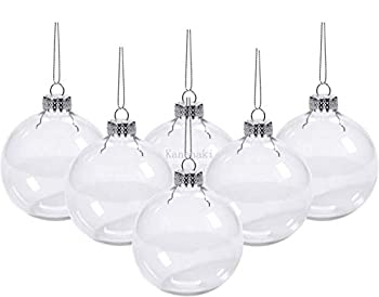 Kanonaki Case of 12 Clear Plastic Round Ball Ornaments - The Look of Glass Ornaments