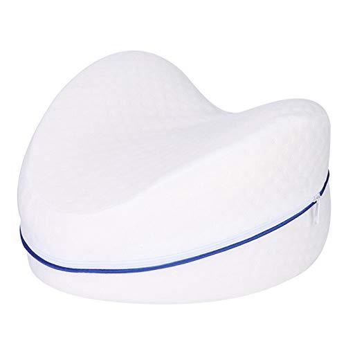 Almohada de soporte de espuma para piernas, almohadas ergonómicas para dormir laterales Cojín de soporte de piernas de presión transpirable de espuma viscoelástica con funda extraíble y lavable Alivio
