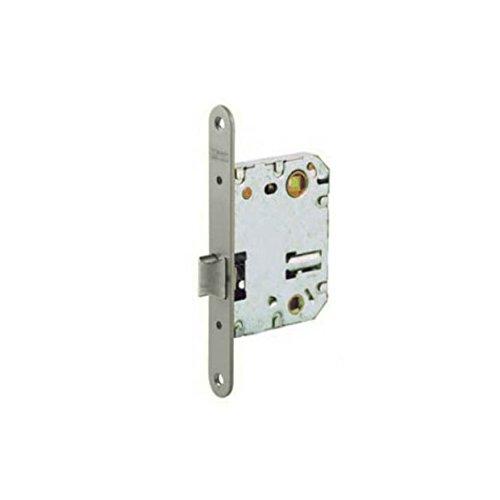 Tesa Assa Abloy 134U5RHN Picaporte Unificado Para Puertas de Madera Niquelado Entrada 50 mm, Frente Redondo 134U