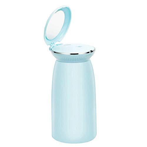 HUMIDDK Bleu, Diffuseur Ultrasonique D'Huile Essentielle D'Arome D'Humidificateur d'air 350Ml pour La Brume À La Maison De Tasse De Coquillage avec Le Miroir De Maquillage