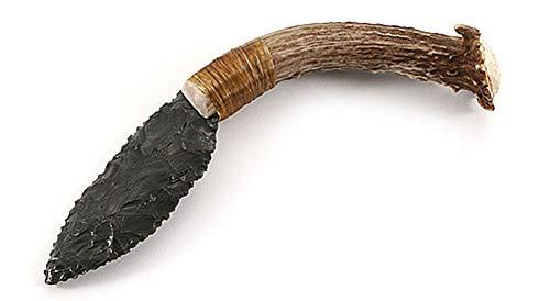 The Pioneer - Obsidian/Stag Primitive Knife Kit - (5pc.)