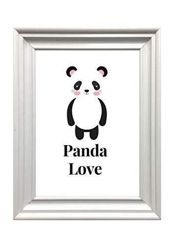 Kunstdruck Din A4 ungerahmt, Pandabär, Panda, Panda Love, Panda Liebe, Tierliebe, Tierfreunde, Bär, Druck, Poster, Bild, Deko, Geschenk
