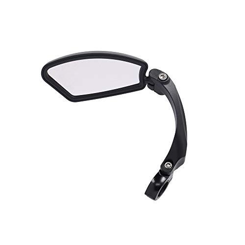 XLC Unisex– Erwachsene MR-K10 Fahrradspiegel, Schwarz, 21-26 mm