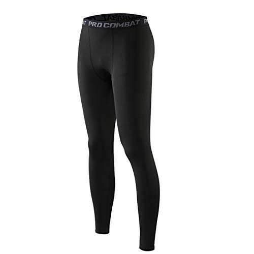 Globaltrade001 Hombre Leggings Medias Pantalones Deportivos Compresión Leggins de Deporte Baloncesto Fútbol Yoga Fitness 2XL