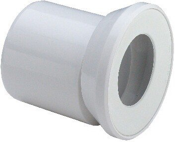 Viega 103231 WC-Anschluss-Stutzen Modell 3815.1, DN 100 x 155 mm, weiß