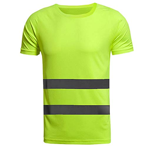 Xinvivion Camisas Reflectantes de Trabajo - Hombre Mujer Respirable Camisetas de Trabajo Alta Visibilidad Ligero Ropa de Seguridad