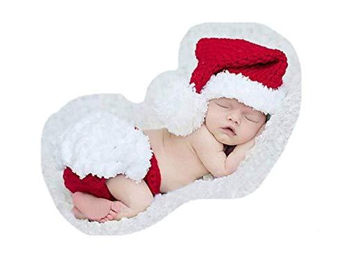 Traje de fotografía de bebé recién nacido, juego de Navidad, accesorio de foto para bebés/trajes - blanco - Medium