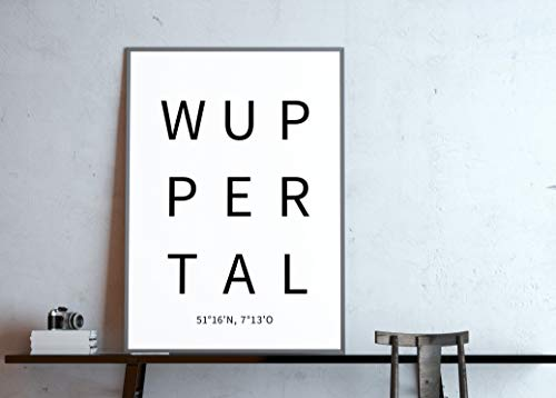 Typo Poster, city-love - Wuppertal