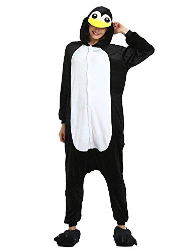 Pijama Animales Disfraz Cosplay Carnaval Halloween Costumes Unisex Mono Pijama entero Unicornio Panda Pingino Pinguino M