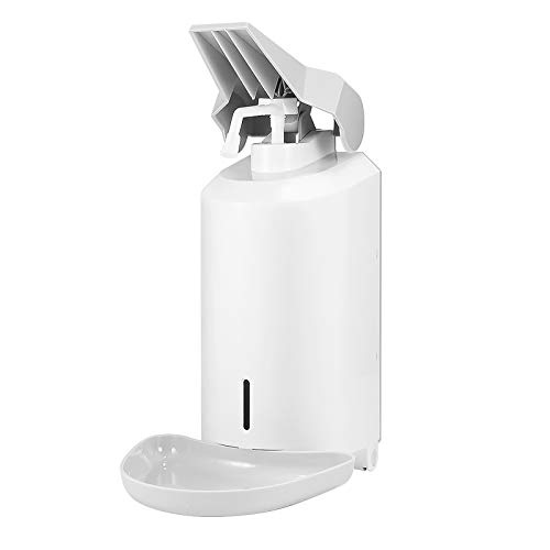 Hangrow Dispensador de jabón a presión de codo, dispensador de pared, dispensador de jabón de soporte, contenedor de jabón de pie, spray de goteo, dispensador para cocina y baño de 1000 ml