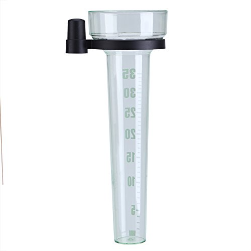 Professioneller Regenmesser aus Kunststoff mit transparentem Halter, Regenmessbecher für Garten und Außenbereich