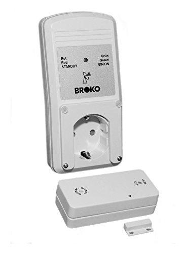 Funk - Abluft - Sicherheitsschalter BL220F / Funk Sicherheits Abluftsteuerung DIBt geprüft / Fensterschalter Wireless / Fensterkontaktschalter / BROKO