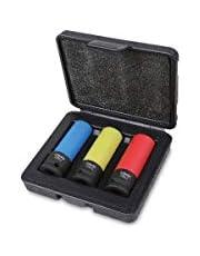 Beta 720LC/C3 - Chiave a Bussola con Inserti Polimerici Colorati, Custodia Portatile, 3 Pezzi, Set Chiavi a Bussola Professionali, Ottimi per Rimuovere i Dadi delle Ruote delle Auto