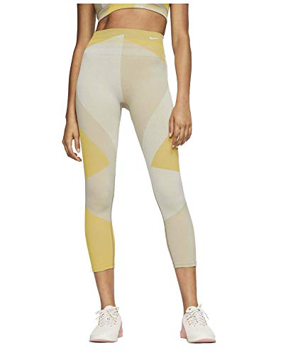 Nike Sculpt Lux High Rise 7/8 - Pantalones de entrenamiento para mujer - beige - Medium