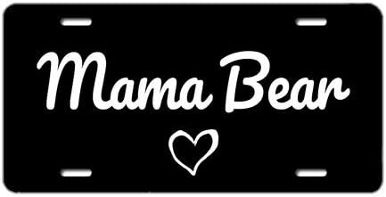 Tobe Yours License Plate Sale Max 44% OFF Special Price Cover Mama Bear Car Printed Auto Truck