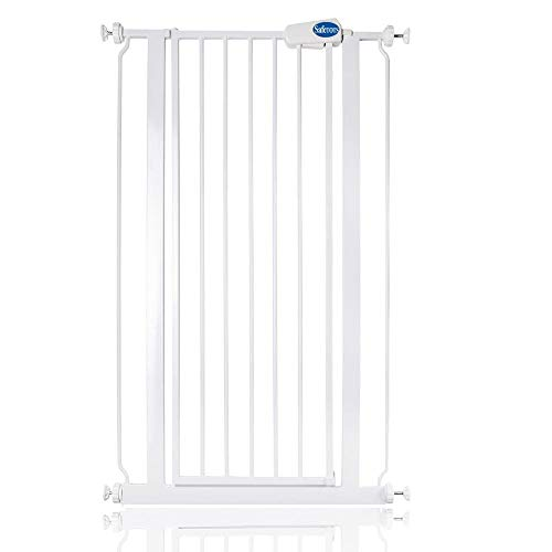 Safetots Extra Tall Metal Safety Gate Pressure Fit (68.5cm - 75cm, White)