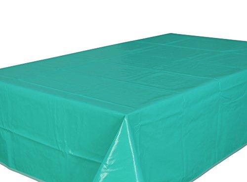 Home Direct Nappe toile cirée PVC Rectangulaire 140 x 200 cm Uni Bleu Vert