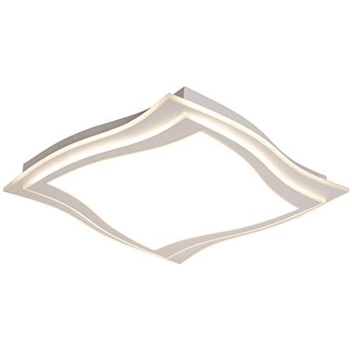 Iluminación de techo de interior Luz de techo creativa minimalista moderna, luz de techo cuadrada del LED dos tamaños Luz de techo empotrada (Color : White light)