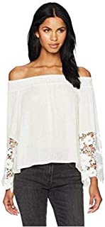 Glamorous Women's Bardot Off The Shoulder Lace Top Off White