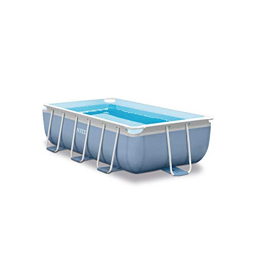 INTEX Kit Piscine Prism Quadra Frame, 3539 L, Bleu, 300 x 175 x 80 cm