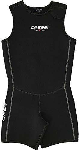 Cressi Base Layer Shorts Vest Man 2.5mm Traje Interior Corto, Men's, Negro, L