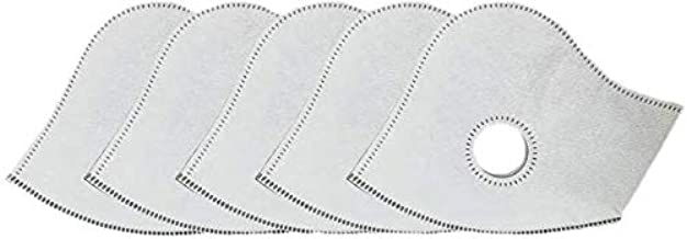 Dust Mask Filter Replacement Parts, LT Active Carbon Filters for Mesh or Neoprene Mask, 6 Pack (Filters*6)