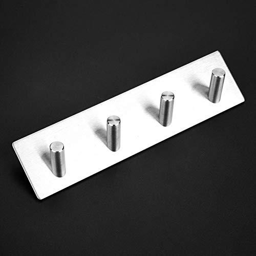 Ganchos para toallas Ganchos de pared de acero inoxidable Resistente al agua Resistente para colgador de baño Kirtchen(Four hooks)