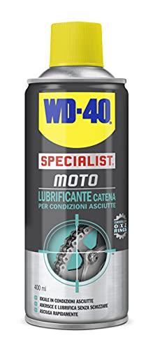 WD-40 Specialist Lubrificante Catena Moto Spray, 400 ml, ideale in condizioni asciutte, compatibile con O-X-Z rings