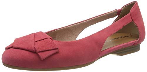 Tamaris Damen 1-1-22106-24 Geschlossene Ballerinas, Rot (Coral 562), 41 EU