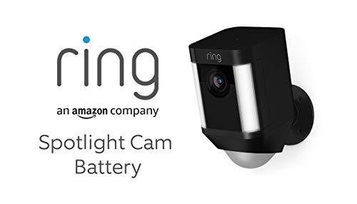 Ring Spotlight Cam Battery von Amazon | HD Sicherheitskamera mit LED Licht, Sirene und Gegensprechfunktion, Batterie betrieben, schwarz | Mit 30-tägigem Testzeitraum für Ring Protect