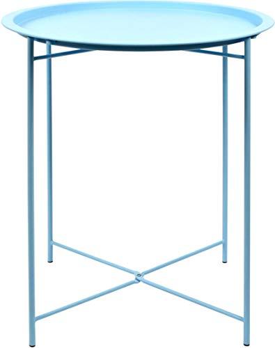 Jarddeco Beistelltisch, Stahl, Blau