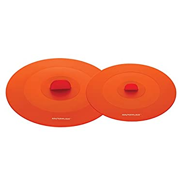 Rachael Ray Accessories 2-Piece Top This! Suction Lid Set, Orange