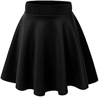 Made By Johnny Women's Basic Versatile Stretchy Flared Casual Mini Skater Skirt XS-3XL Plus Size-Made in USA