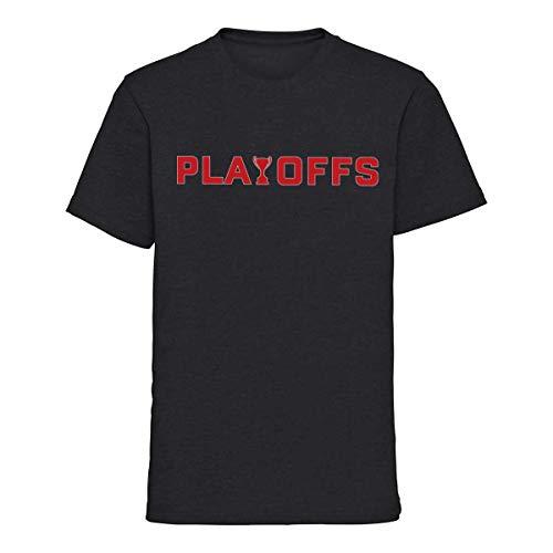 Scallywag® Eishockey Kids T-Shirt DEL Playoffs I Größen M - XL I Farbe schwarz, grau I offizielle Deutsche Eishockey Liga Kollektion (XL (152), grau)