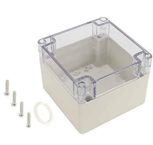 120x120x90mm Quadratische Anschlussdose Transparente Abdeckung IP65 Wasserdichtes ABS-Projektgehäuse