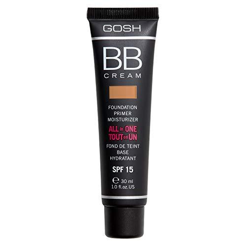 GOSH BB Cream 3-in-1: Primer, Foundation & Feuchtigkeitscreme, 30ml I Make-Up für ein gepflegtes Hautbild & strahlenden Teint I Abdeckung von Unreinheiten & Rötungen I Vegan & LSF 15 I 003 Warm Beige