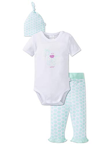 Schiesser Baby-Mädchen Ponyhof Unterwäsche-Set, Mehrfarbig (Sortiert 1 901), 74 (Herstellergröße: 074) (3er Pack)