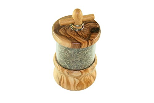 D.O.M.® Kräutermühle aus Olivenholz