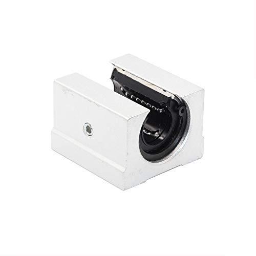 3D Printer Parts Accessories, 4pcs SBR12UU SBR16UU Linear Bearing Pillow Block Open Linear Bearing Slide Block CNC Router Parts (Size : SBR16UU) (Color : SBR12UU, Size : SBR12UU)