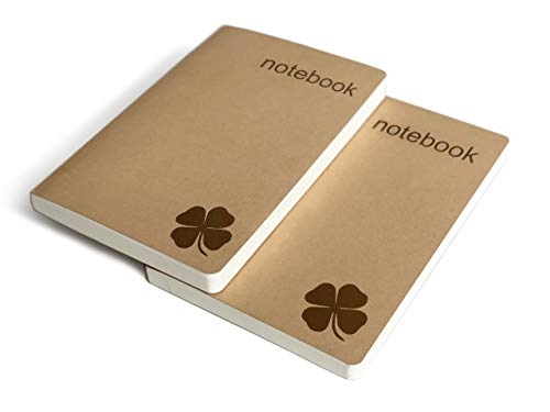 Set of 2 Blank Bound Notebooks A5 – Each 200 Lay Flat Pages – 5x8...