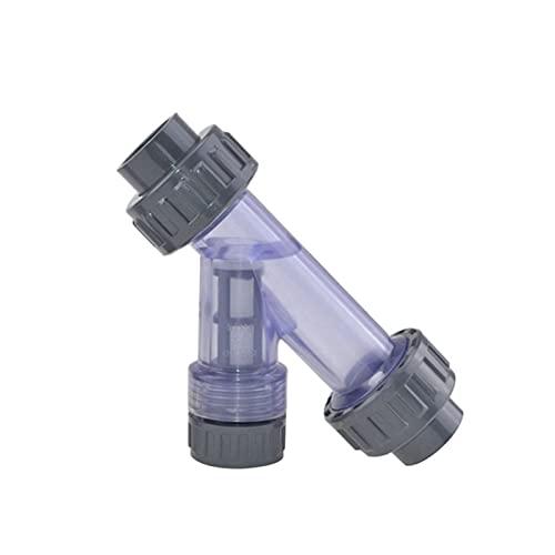 FLLOVE Tanque de PVC de PVC Transparente y con Forma de PVC Tubería de PVC Conector de tubería de Agua (Color : 32)