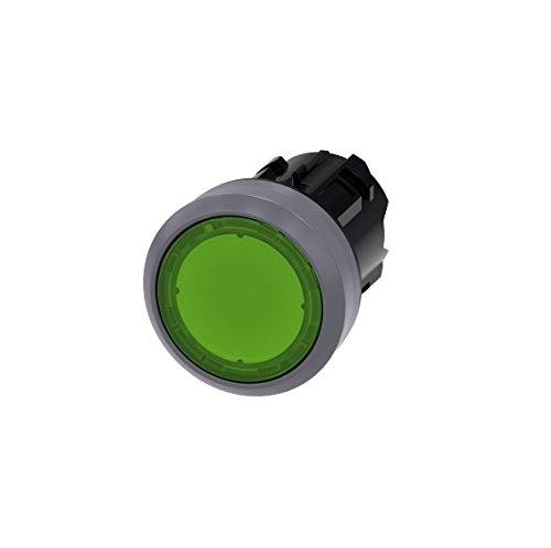 Siemens SIRIUS ATC Taster beleuchtet grün Taste galvanisiert momentaneo
