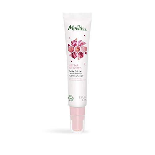 Melvita - Gelée Fraiche Désaltérante Bio Nectar de Roses - Soin Hydratant Léger Naturel à 99% et Certifié Bio - Formule Vegan - Pour une Peau Hydratée, un Teint Frais qui ne brille pas - Tube 40ml