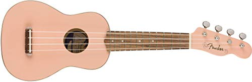 Fender Venice - Ukelele soprano, color rosa