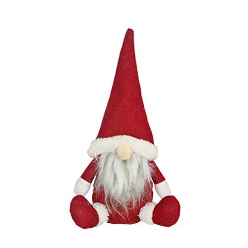 Zhongdawei Muñeca de Papá Noel sin rostro, adornos de Navidad para el hogar, regalo de Navidad, feliz año nuevo