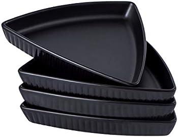 Set Of 4 Bruntmor Porcelain 8 Inch Triangle Plates