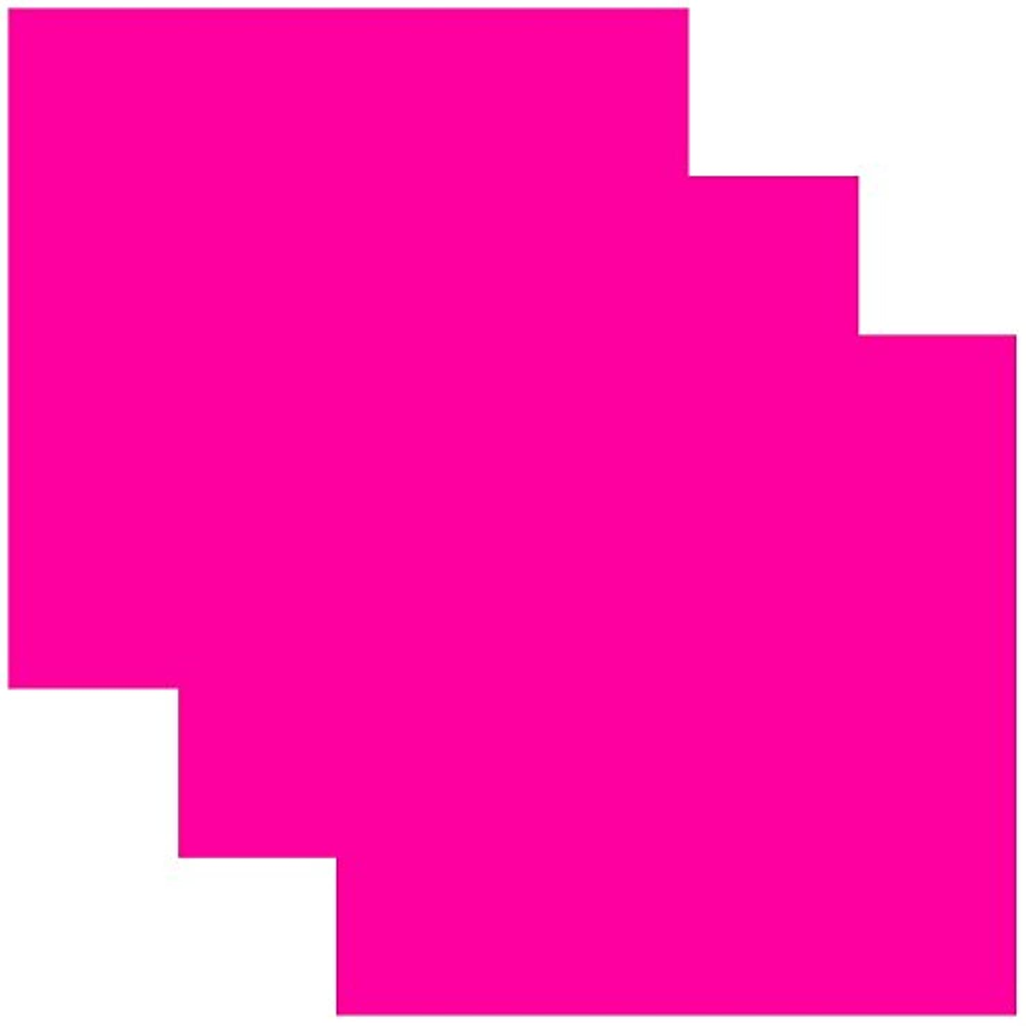 SISER EasyWeed Heat Transfer Vinyl HTV for T-Shirts 12 x 12 Inches 3 Precut Sheets (Fluorescent Pink)