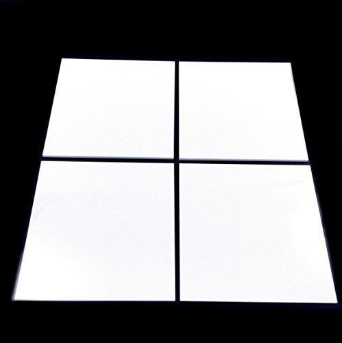 Mosaik-Wandfliesen, quadratisch, 15 x 15 cm, Weiß, 10 Stück