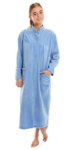 Robe de chambre en polaire pour femmes - Bleu - 52