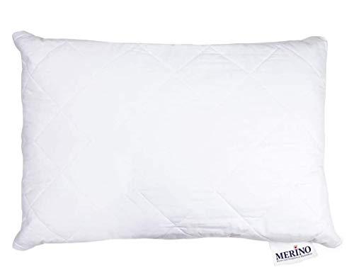 MERINO BETTEN Hochwertiges Schlafkissen 50x90 | Kopfkissen | Kissenhülle versteppt mit Reißverschluss | Serie Perle